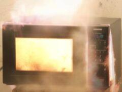 В Калининграде загорелась микроволновка: пострадал человек