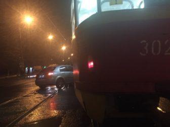 ДТП трамвай авто
