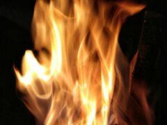 В Смоленске сгорел автомобиль Audi
