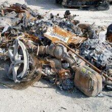 В США выставили на торги сгоревший дотла Ferrari
