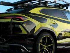 Новая модель Lamborghini Urus выехала на тесты