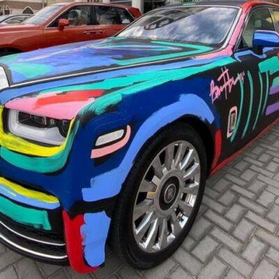 Rolls-Royce Phantom, граффити