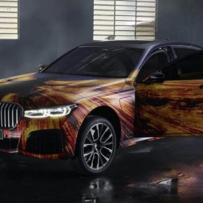 BMW 745Le, разрисован