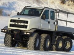Новый арктический вездеход «Русак» протестировали в Архангельске