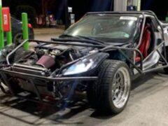 Разбитый Chevrolet Corvette превратили в безумный багги