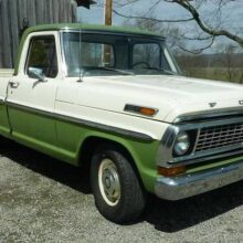 На аукционе продают Ford F-100 1970 года с двигателем Volkswagen