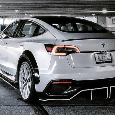 Tesla Model 3, карбоновый обвес
