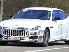 Обновленный Maserati Quattroporte заметили на тестах
