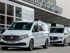 В Европе стартовали продажи электрического минивэна Mercedes-Benz EQV