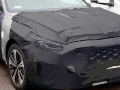 Kia вывела на тесты третье поколение седана Kia Cadenza