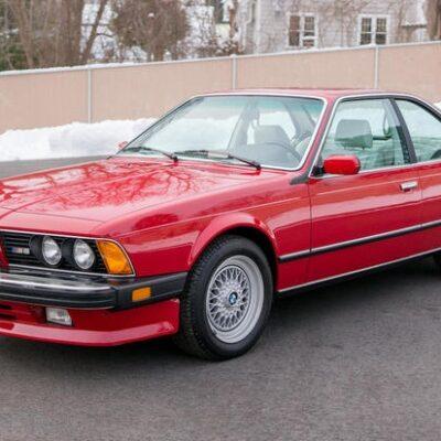 BMW M6, 1988 год, акулий нос