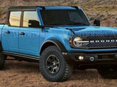 Ford расширит линейку нового Bronco версией с кузовом пикап