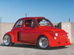 На продажу выставили широкий Fiat 500 с мотором от Civic Type R