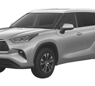 Toyota Highlander, патентное изображение