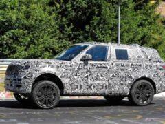 Новый внедорожник Range Rover 2022 года тестируют на Нюрбургринге