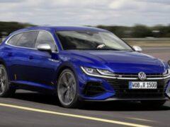Обновленные VW Arteon Shooting Brake R и Golf R заметили на тестах