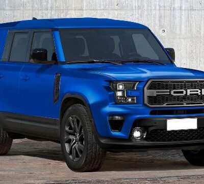 Ford Bronco First Edition 2021, цвет Lightning Blue