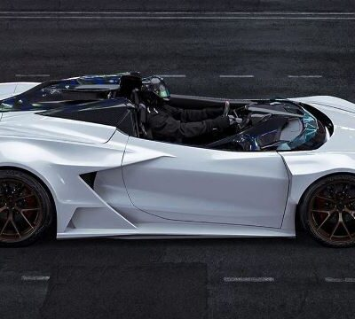 Corvette без фар и ветрового стекла