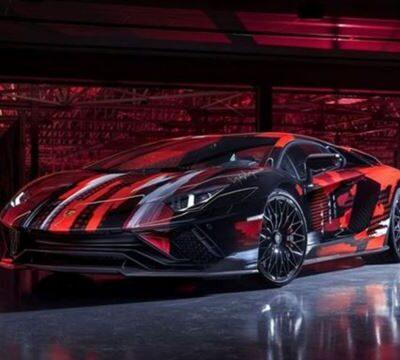 Lamborghini Aventador S, арт-объект