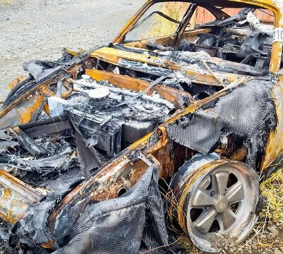 Porsche 911, сгоревший