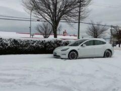 Стоянка на морозе снижает запас хода Tesla Model 3 на треть
