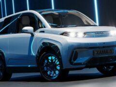 В Петербурге показали первый российский компактный электромобиль «Кама-1»