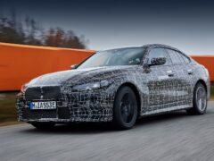 BMW показал финальные тестирования электрического седана i4