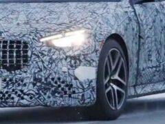 Гибридный седан Mercedes AMG S63e засекли на тестах в Швеции