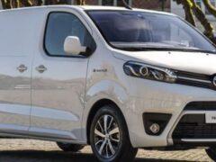 Toyota представила электрический фургон Proace с запасом хода 330 км
