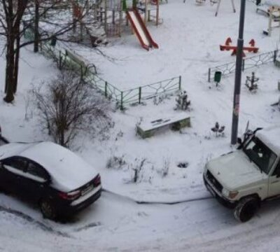 авто, зима, парковка