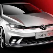 Volkswagen опубликовал тизер обновленного хэтчбека Polo GTI